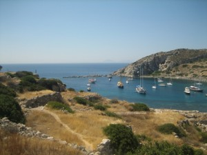 View of Knidos Anchorage from Ruins