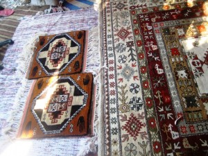 Patterns are taken from old rugs