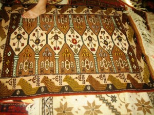 A sample of the finished product--this rug was 3,500 TL or about 1,700 euros