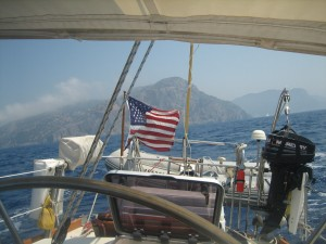 Nice breeze for sailing west