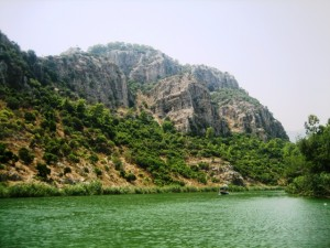 Up river from the town of Dalyan are mud baths