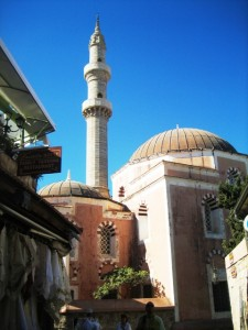 . . .and nearby a mosque.
