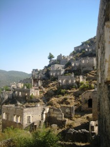 1000 abandoned houses are scattered over the hillside