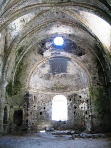 Vaulted ceiling of interior