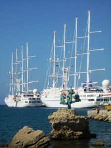 . . .also hosted a Windstar boat we honeymooned on--small world.