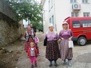 Villagers in traditonal dress