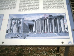 Historical Drawing of the Temple of Apollo