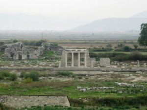 Partially restored temple at Miletus