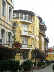 Hotel Uyan is on a cobbled street surrounded by shops and restaurants and steps from the Four Seasons