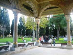 The palace has a park-like atmosphere