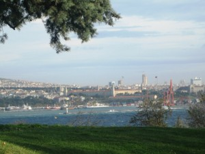 . . .a view of Bosphorus from palace grounds.
