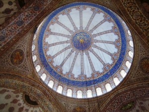 The Mosque lives up to its name, with blue the predominant color.