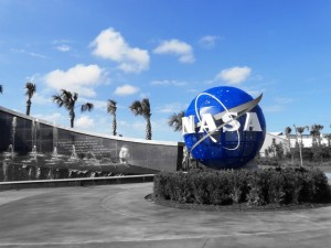 The entrance to the Kennedy Space Center.