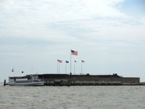 Fort Sumter appears so small to be important as a defensive position.