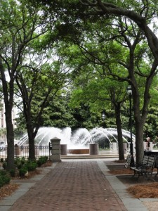 Shaded walks and fountains are inviting